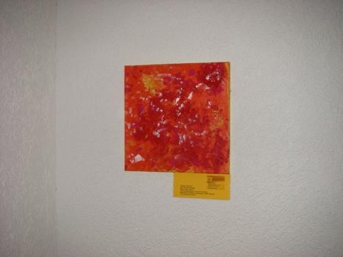 Ein abstraktes rotes Gemälde