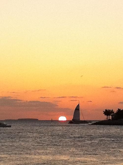 Ein Sonnenuntergang am Meer. Oder ein Sonnenaufgang?;-)