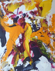 Abstraktes Gemälde von Silja Korn