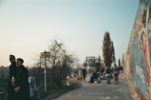 Spaziergänger in einem Park
