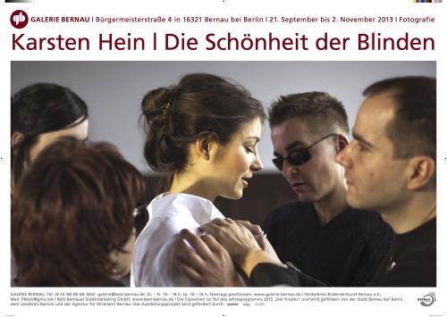 Plakat Die Schönheit der Blinden, Galerie Bernau
