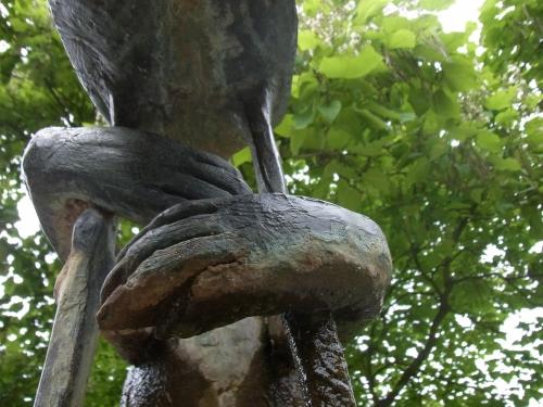Detail einer Bronzeskulptur