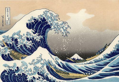 Die große Welle vor Kanawaga
