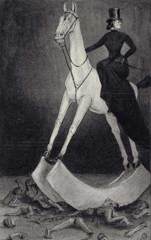 Die Dame auf dem Pferd