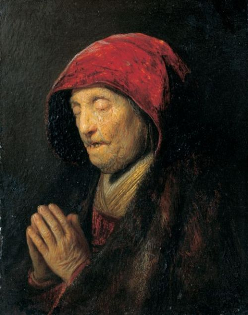Betende alte Frau