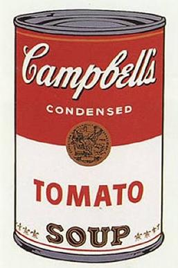 100 meisterwerke 22 campbell s tomato soup von andy warhol bilder f r die blinden. Black Bedroom Furniture Sets. Home Design Ideas