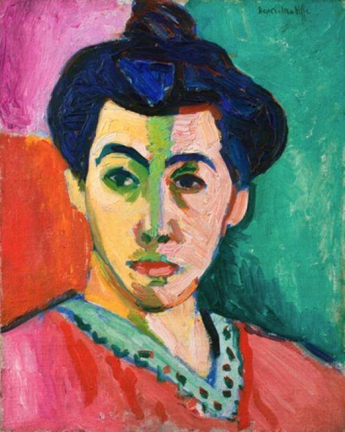 Der grüne Streifen. Bildnis Madame Matisse