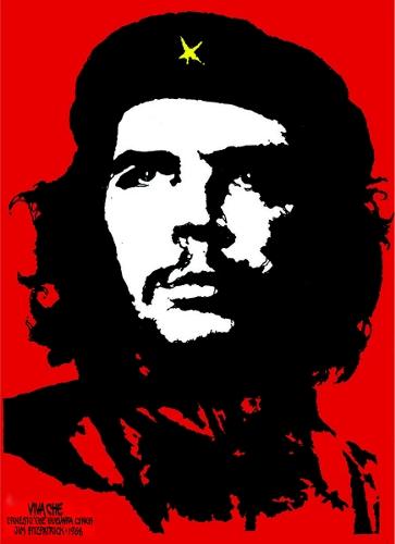 Koloriertes Foto von Che Guevaras Gesicht